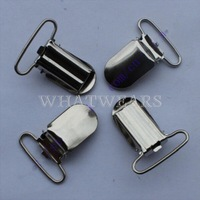 Free Shipping 10pcs Lead Metal Suspender Paci Pacifier Clip Holder Ribbon Craft Sewing 4019-097