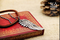 High quality low price leather necklace  promotion wing necklace necklace for man
