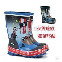 Drop Shipping Brand New Kids Children Fashion Rubber Cartoon Rain Boots Anti-slip Waterproof Rainboots Water Shoes #KS4