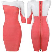 Bandage Dress Style No A096 Europe and America sexy top grade womens drss one-shoulder & club bandage dress