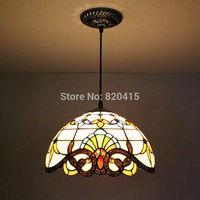Tiffany Style Stained Glass Cord Pendent Lights Art Deco Mini Lustre Light Fixtures Kitchen Restaurant Corridor Lighting