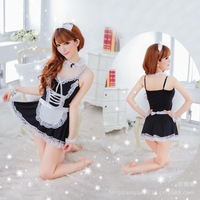Sexy lingerie maid role play waiter Workwear uniforms temptations maids costume Free Shipping