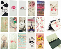Colors Pattern Flip PU Leather Card Holder Wallet Stand Hard Case Cover For Apple iPhone 5 5G 5S Mobiles Cell Phones