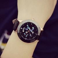 Women Watch 2014 New Quartz Wristwatch Analog Crystals Dial Rhinestone Watch Fashion Lady Casual Watches Christmas gift