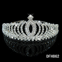 Whoelsale Bridal Jewelry Rhinestone Crown Tiara Hair Bands Hair Ornaments Factory Direct Wholesale Korea New Styles 10pcs/Lot