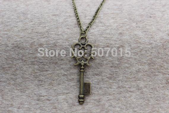 wholesale Vintage Key necklace Personalized Antique style,love necklace,Personalized Gift(China (Mainland))