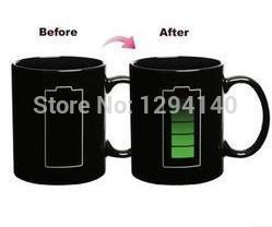 1 Piece Free Shipping New Arrival Battery Change Color Glass Temperature changing Ceramic Colour Cup Mug(China (Mainland))