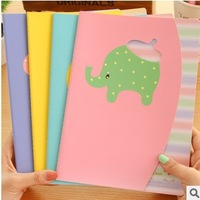 Cute 6pcs/lot Cartoon Animal Notepad Candy Color Notebook Hardcover Journal Diary Memo Pad Stationery Writing Supplies #NB005