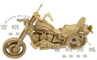 3DWooden Puzzle motorcycle motor model kit