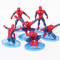 9pcs/set The Avengers Spiderman PVC Action figure toy 7-11cm Free Shipping