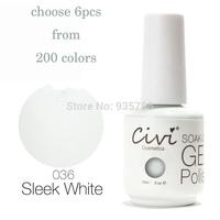 (Choose 6)Civi UV Gel Nail Polish Soak Off UV Gel 30 Days Long Lasting 200 Gorgeous Colors The Best Gel Polish