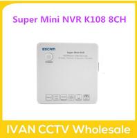 ESCAM K108 Super mini NVR Onvif 8ch Channel 1080P/960P/720P Mini Portable Network Video Recorder NVR, Support Onvif, 3G, Wifi