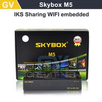Original Skybox M5 S-M5 Mini HD digital satellite receiver with wifi build in support cccam newcam Network EPG