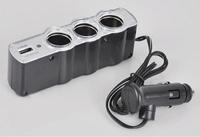 New USB 3 way Auto Car Cigarette Lighter adapter Socket Splitter Charger