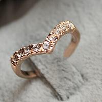 Min order $10 (mix order) Fashion Cute New Design Full Shiny Heart V-shaped Rhinestone Women Jewelry 3g R4044