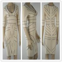 Style Number D1180 Perfect design slinky ladies bandage bodycon dress designer ladies straight dress