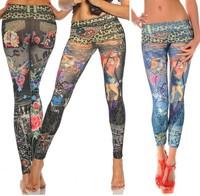 new 2015 free shipping woman Europe style low waist slim leggins women leggings free size