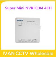ESCAM K104 Super mini NVR Onvif 4ch Channel 1080P/960P/720P Mini Portable Network Video Recorder NVR, Support Onvif, 3G, Wifi