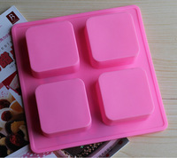 10pcs/lot HOT Square Brick style oven mould silicone molds for cake decorating pudding dessert soap chocolate mold KM-Z3002