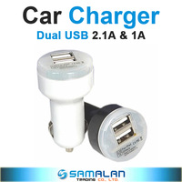 Dual USB Car Charger For iPhone iPad iPod 2.1A 1A Mini Car Charger Adapter