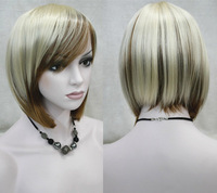 Elegant Short BOB Straight Capless Synthetic hair Wig 4 colors for you choose free shipping
