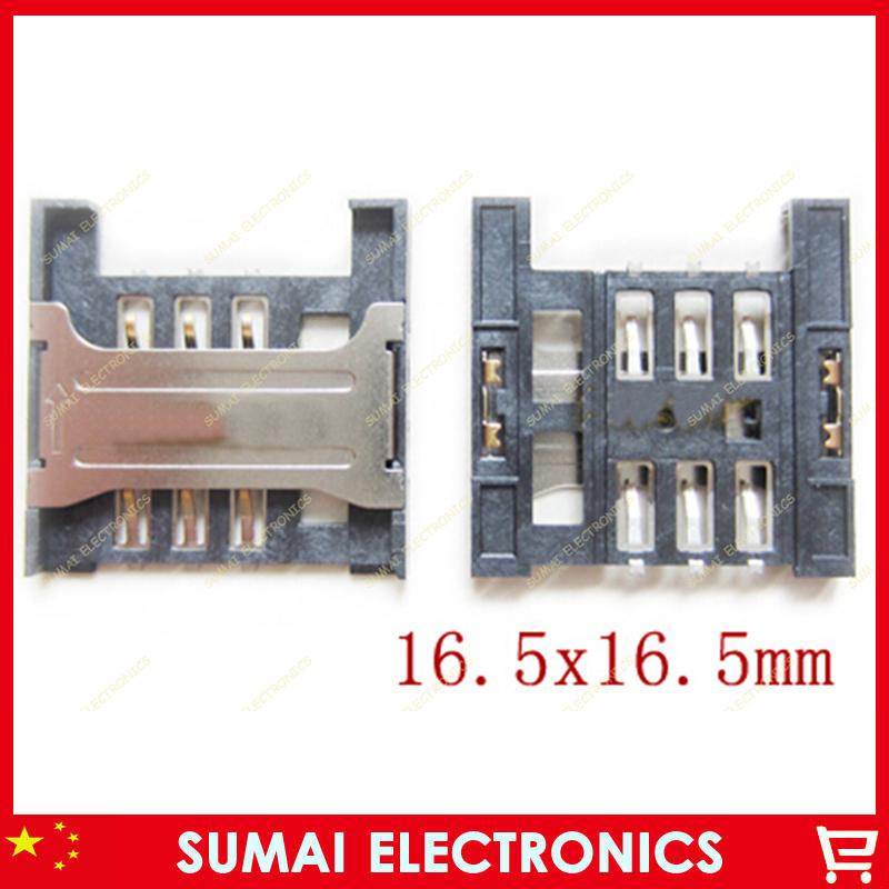10pcs/lot, SIM card reader holder for Lenovo mobile phone slot tray module,size:16.5*16.5mm(China (Mainland))