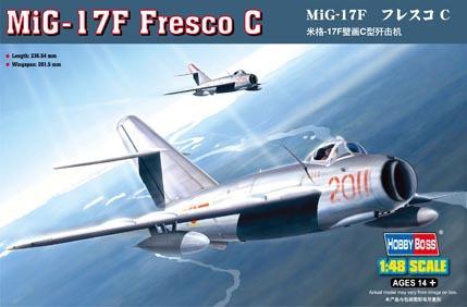 Hobby Boss 80334 1/48 MiG-17F Fresco C plastic model kit(China (Mainland))