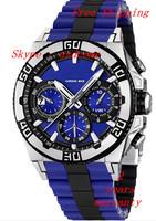 New Men's Chronograph Blue Dial Date Bike Tour de France 100M Watch F16659/6