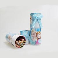 Free Shipping New Arrival 1 Box cartoon Frozen crayon 12 colorsrotating crayons Drawing crayon for students Painting tools