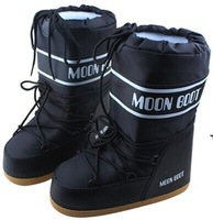 free shipping The original single Fashion winter female male snow boots Women Fashion winter spaceslip on women moon boots