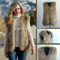Brand newWarm Womens Faux Fur Vest Waistcoat Jacket Coat Fluffy Sleeveless Overcoat