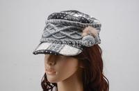Free shipping fashion women knit Berets caps winter wool hat bones Beanie Cap Dress Hats gorras kenkn