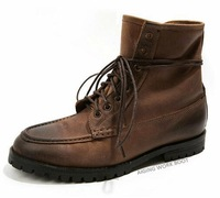 Vintage retro genuine leather martin boots men trend boots outdoor boots military boots