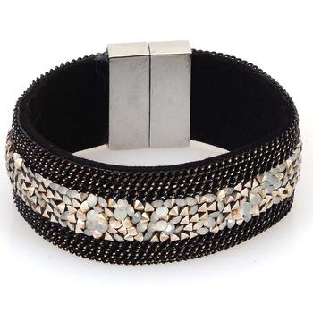 Новый стиль широкий магнитный браслет обруча обруча браслет с горный хрусталь шику ...