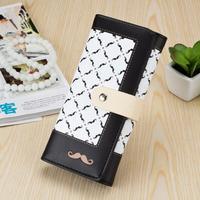 Women's Wallets ladies Velcro wallets cute Plaid color beard Wholesales