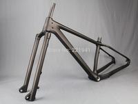 "2015 Newest Listing Full Carbon Fatbike Frame Fork Front Axle 15*150mm Snow Bike Frameset 20"" Rear Spacing 197mm"