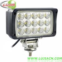 "6"" inch 45W 15pcs*3w high intensity Epistar LEDs Work Light Square Offroad LED work light IP67 6000K Pmma Lens for SUV 4WD ATV"