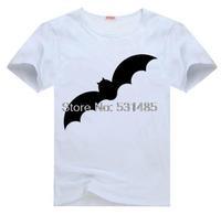 Bat Halloween Outfit  tee  t shirt for kid Boy Girl clothing  top  clothes cartoon tshirt Dress