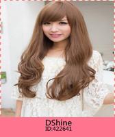 2014 New Sexy women wig Hair Long BOBO Curly wigs synthetic hair wigs cap free shipping