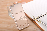 """Ultra Thin Gold Cartoon Minnie Hello Kitty Hard Case Cover for iPhone 6 4.7"""""""