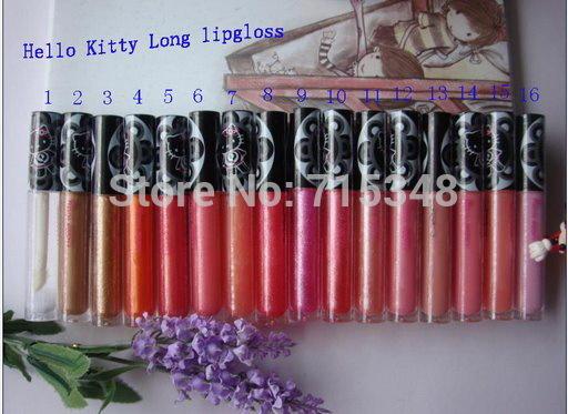 New Hot Sales Makeup Lipgloss Hello Kitty Lipgloss 4.8g Have 16 Colors Choose ( 16 Pcs/Lot)(China (Mainland))