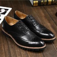 2014 new style men's fashion elegant dress shoes,wedding flat shoes for men genuine leather oxfords men office formal shoes.