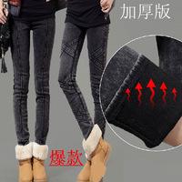 New 2014 sexy winter fleece lined leggings jeans velvet legging woman legins for women's free shipping mallas warm leggin womens