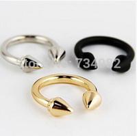 New fashion jewelry punk rivet finger ring gift for women girl wholesale R4127
