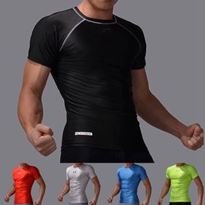 Free shipping 2014 compressed quick dry t-shirt Man MMA fight rashguard t shirt men fitness shirts rash guard men mma t shirts()