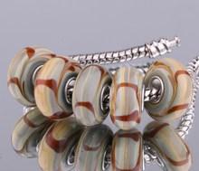 5PCS 925 sterling silver DIY thread Murano Glass Beads Charms fit Europe pandora Bracelets necklaces  /eusanlza fieanzla F081