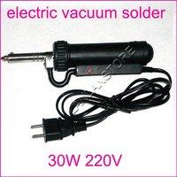 30W electric vacuum solder sucker /desoldering pump/Weld Desoldering Tin Pump/Iron Gun/Soldering Tin Sucker/