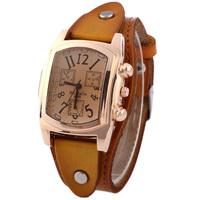 New Arrive Classic square leather quartz Wristwatch For Women Dress Watches Luxury Golden Case Watch