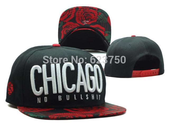 Novo 2014 nova chegada Cayler & Sons CHICAGO Snapback chapéus pretos NO BULL merda barato marca Hip Hop homens mulheres tirar costas baseball(China (Mainland))