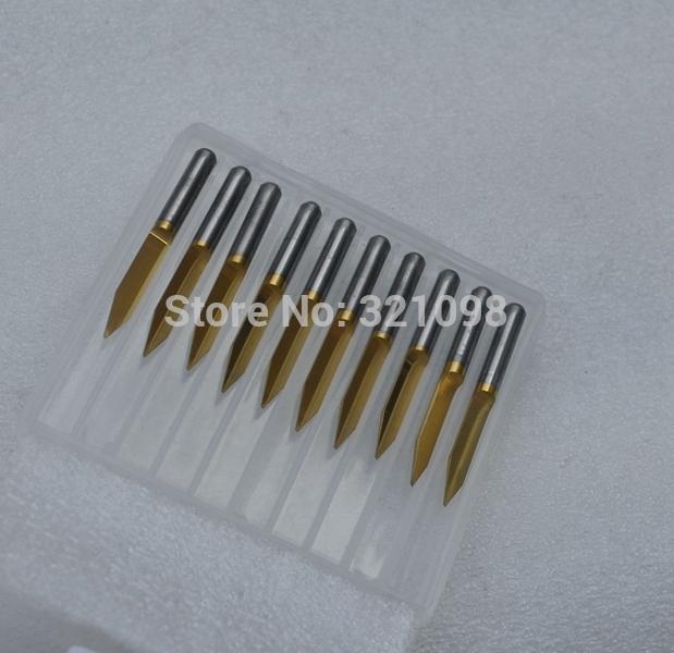 10pcs TIN coating flat bottom v type carve cutters CNC router bits 40degree 0.2mm(China (Mainland))